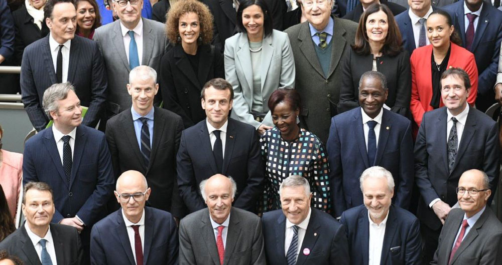 Le GPF célèbre la francophonie au siège de l'OIF avec Emmanuel Macron, Président de la République française et Louise Mushkiwabo, Secrétaire général de la Francophonie